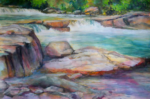 "Linda Elmer - ""Valley Falls #3"""