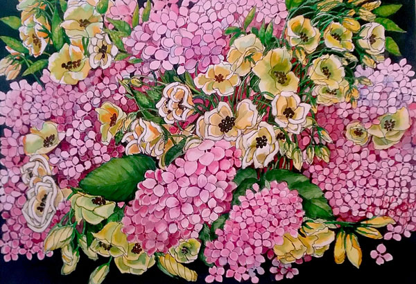 "Award of Merit - ""Hydrangea II"" by Joe Ann Crawford"