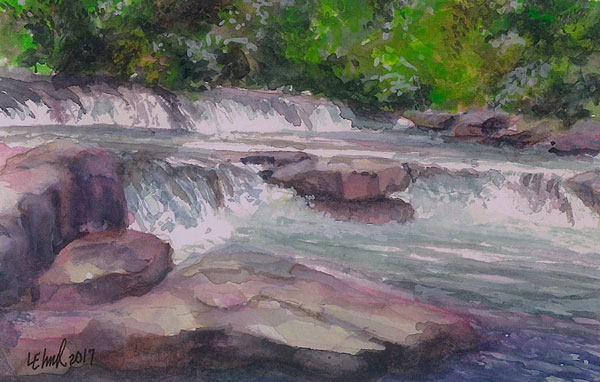 "Jean Whistler Call Memorial Award - ""Valley Falls #2"" by Linda Elmer"