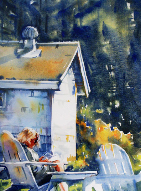 "Award of Excellence -  ""Maine Retreat"" by Sandra Pealer"