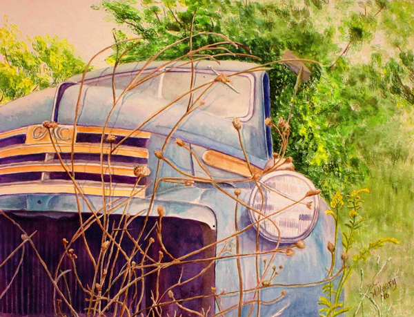 Carol Hilleary - Old Blue Truck