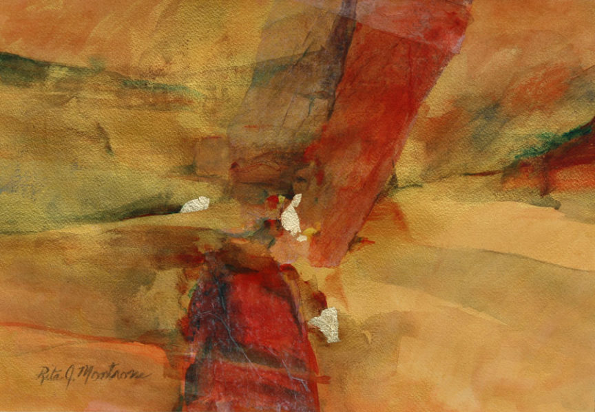 """""""Mystic Intersection"""" a watercolor by Rita Montrosse"""