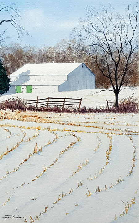 Honorable Mention by Jim Gerkin - Barn and Corn Rows