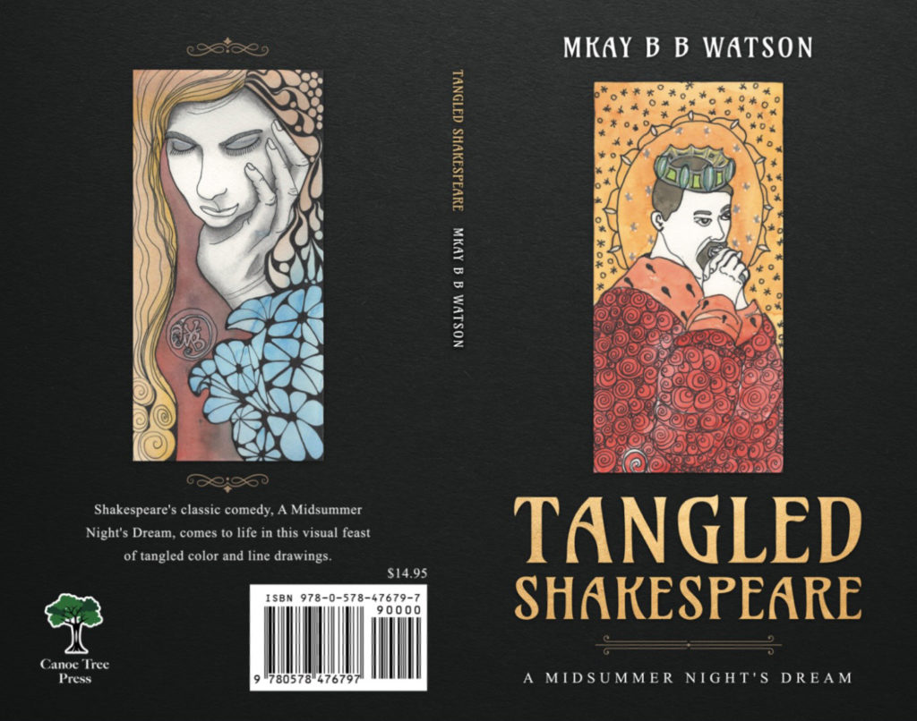 Book Jacket for Tangled Shakespeare.