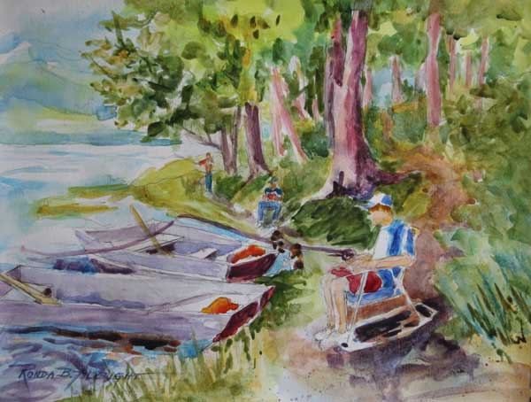 Ronda Albright - Summer at the Lake watercolor