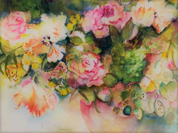 Mary Alice Bowers - Flowers Unlimited watercolor