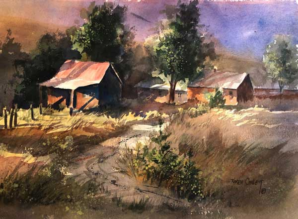 Karen Catlett - Old Farm watercolor