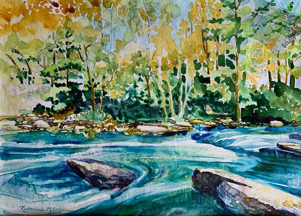 Katherine Crim - A River Runs Through It watercolor