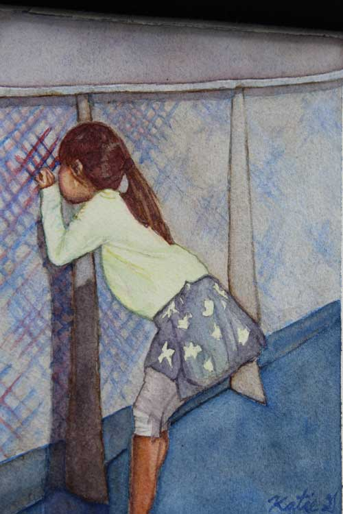 Katelyn Gatian - Innocent Curiosity watercolor