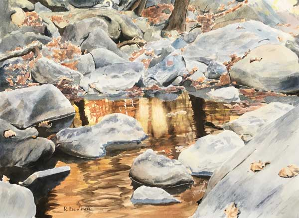 Rick Kowalewski - Anacostia Gold watercolor