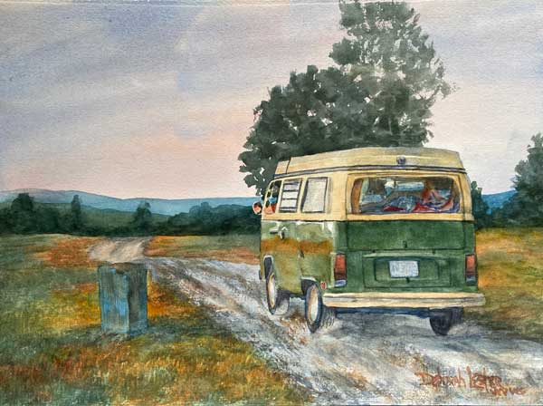 Debbie Lester - Traveling WV watercolor
