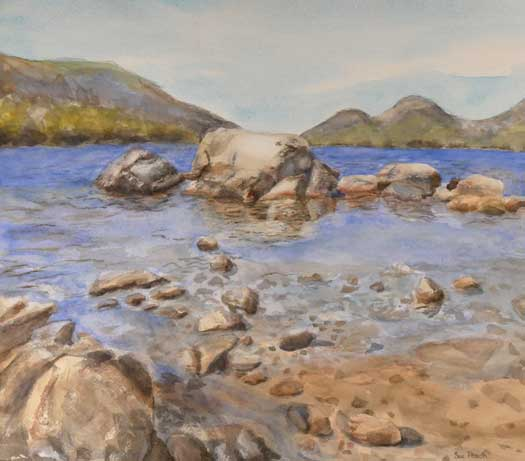 Sue Pitsch - Jordan Pond watercolor