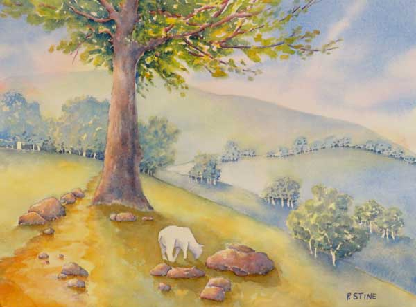 Patricia Stine - Summer Pasture watercolor