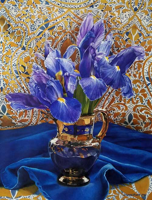 Jeannine Swartz - Blue Iris watercolor