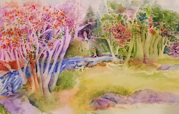 Monica Wilkins - Rockfish Gap, Virginia watercolor