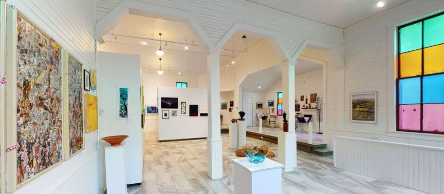 The interior of the Love Hope Center for the Arts in Fayetteville, WV